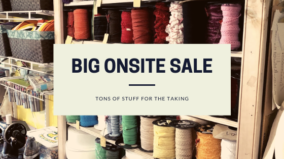 Big Fabric and Trim Sale Saturday, January 26th