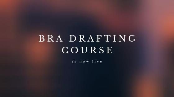 Bra Drafting Course and Third Edition Update
